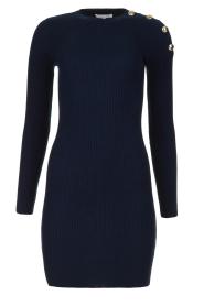 Patrizia Pepe | Dress with shoulder details Lillian | blue  | Picture 1