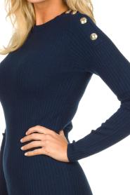 Patrizia Pepe | Dress with shoulder details Lillian | blue  | Picture 6