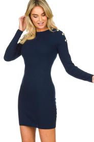 Patrizia Pepe | Dress with shoulder details Lillian | blue  | Picture 4