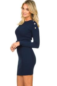 Patrizia Pepe | Dress with shoulder details Lillian | blue  | Picture 5