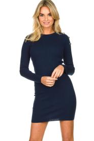 Patrizia Pepe | Dress with shoulder details Lillian | blue  | Picture 2