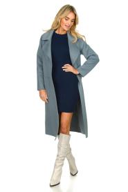 Patrizia Pepe | Dress with shoulder details Lillian | blue  | Picture 3