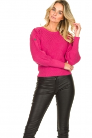 Kocca :  Sweater with sleeve details | pink - img2