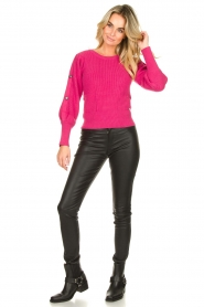 Kocca :  Sweater with sleeve details | pink - img3