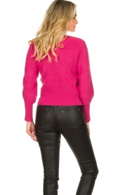 Kocca :  Sweater with sleeve details | pink - img5
