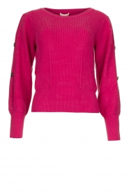 Kocca |  Sweater with sleeve details | pink  | Picture 1