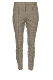 Set |  Houndstooth trousers Hailey | brown  | Picture 1