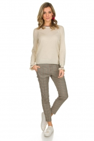 Set |  Houndstooth trousers Hailey | brown  | Picture 2