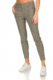 Set |  Houndstooth trousers Hailey | brown  | Picture 4