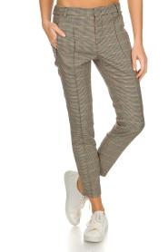 Set | Houndstooth pantalon Hailey | bruin  | Afbeelding 3