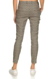 Set | Houndstooth pantalon Hailey | bruin  | Afbeelding 5