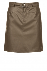 Kocca |  Faux leather belted skirt Brases | green  | Picture 1