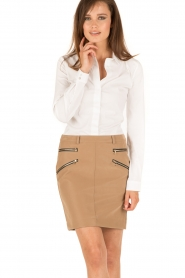 Patrizia Pepe |  Skirt Chiara | brown  | Picture 2