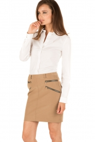 Patrizia Pepe |  Skirt Chiara | brown  | Picture 4