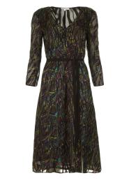 Patrizia Pepe | Dress with print Samantha | black  | Picture 1