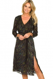 Patrizia Pepe | Dress with print Samantha | black  | Picture 2