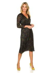 Patrizia Pepe | Dress with print Samantha | black  | Picture 3