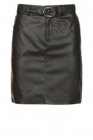 Kocca |  Faux leather belted skirt Brases | black  | Picture 1