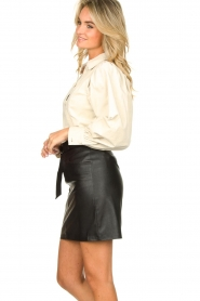 Kocca |  Faux leather belted skirt Brases | black  | Picture 6