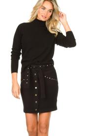 Kocca |  Studded skirt Plyn | black  | Picture 4