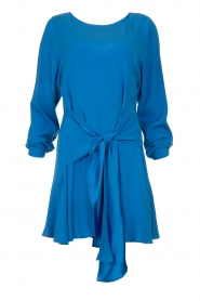 Patrizia Pepe | Dress with wrap detail Anja | blue  | Picture 1