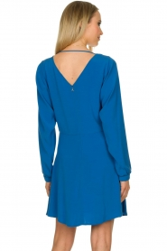 Patrizia Pepe | Dress with wrap detail Anja | blue  | Picture 5