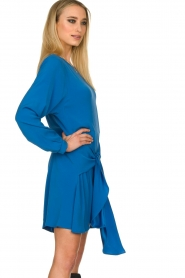 Patrizia Pepe | Dress with wrap detail Anja | blue  | Picture 4