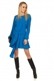 Patrizia Pepe | Dress with wrap detail Anja | blue  | Picture 3
