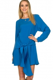 Patrizia Pepe | Dress with wrap detail Anja | blue  | Picture 2