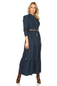 Kocca |  Denim maxi dress Nasify | blue  | Picture 2