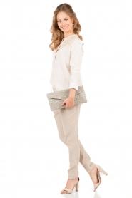 Hoss Intropia | Rib pantalon Sandra | sand   | Afbeelding 3