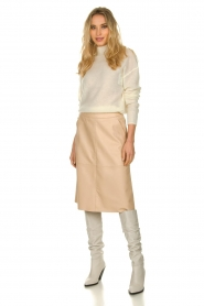 Patrizia Pepe |  Knitted turtle neck Bibi | natural  | Picture 3