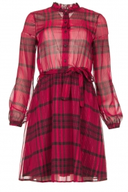 Kocca |  Checkered dress Rows | pink  | Picture 1