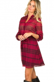 Kocca |  Checkered dress Rows | pink  | Picture 6