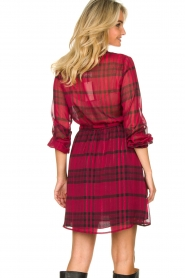 Kocca |  Checkered dress Rows | pink  | Picture 7
