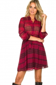 Kocca |  Checkered dress Rows | pink  | Picture 2