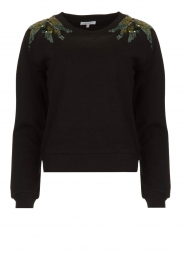 Patrizia Pepe |  Sweater with  sequins | black  | Picture 1
