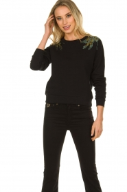 Patrizia Pepe |  Sweater with  sequins | black  | Picture 2