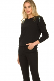 Patrizia Pepe |  Sweater with  sequins | black  | Picture 4