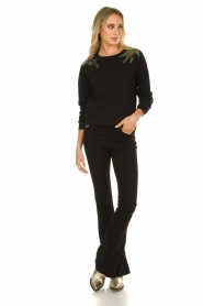 Patrizia Pepe |  Sweater with  sequins | black  | Picture 3