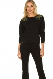 Patrizia Pepe |  Sweater with  sequins | black  | Picture 6