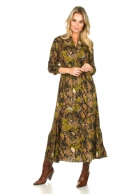Kocca |  Printed maxi dress Jervase | green  | Picture 3