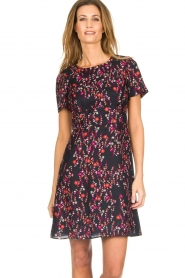 Set |  Dress with floral print Aria | black  | Picture 2