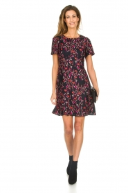 Set |  Dress with floral print Aria | black  | Picture 3