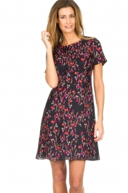 Set |  Dress with floral print Aria | black  | Picture 4