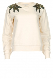 Patrizia Pepe |  Sweater with  sequins | white  | Picture 1