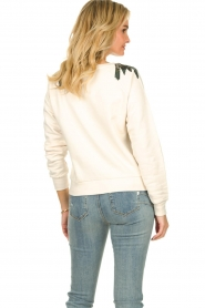 Patrizia Pepe |  Sweater with  sequins | white  | Picture 6