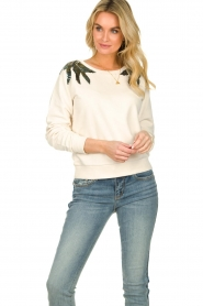 Patrizia Pepe |  Sweater with  sequins | white  | Picture 4