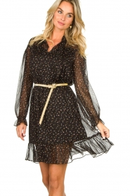 Kocca    Print dress Patels   black    Picture 4
