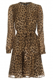 Set |  Leopard printed dress Nina | brown  | Picture 1